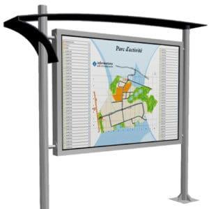 panneau signalétique carte zone